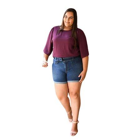 Shorts Feminino Plus Size Jeans
