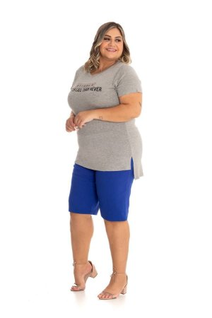Blusa Feminina Plus Size Mullet