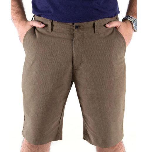 Bermuda Masculina Plus Size Flex Casual