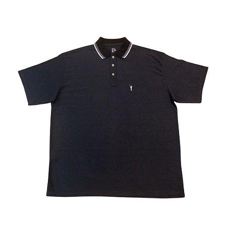 Camiseta Masculina Plus Size Polo Piquet Juno