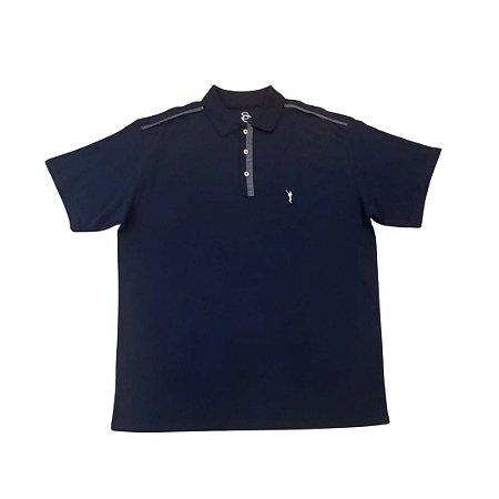Camiseta Masculina Plus Size Polo Piquet Vivo