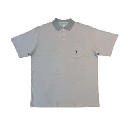 Camiseta Masculina Plus Size Polo Piquet Bolso