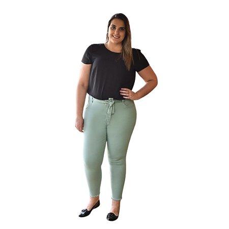 Calça Feminina Plus Size Sarja Super Skinny