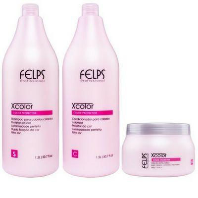 Felps kit Profissional Xcolor Protector 3 produtos