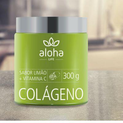 Colágeno Sabor Limão + Vitamina C 300g  Aloha