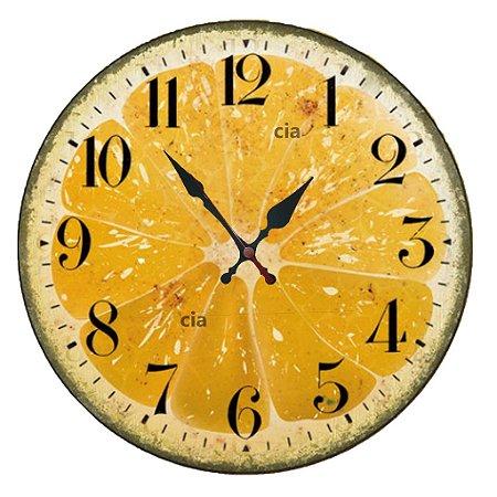 Relógio de Parede Laranja com 49 cm