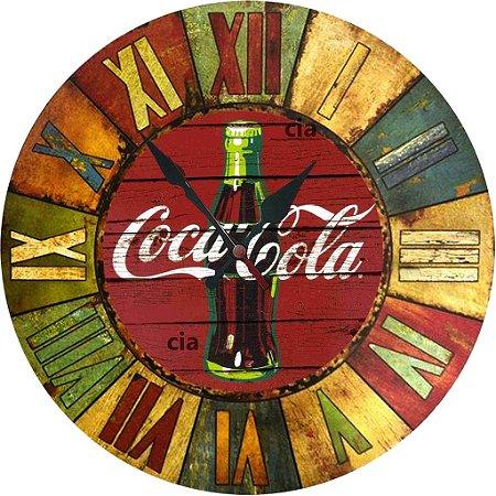 Relógio de Parede Coca Cola com 59 cm