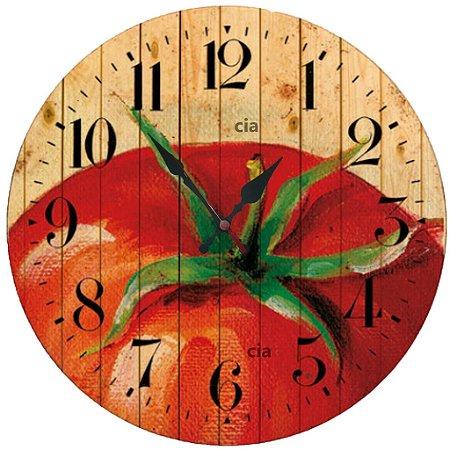 Relógio de Parede Tomate com 59 cm