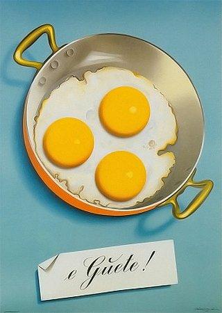 Placa MDF 28 x 20 - Ovos Fritos