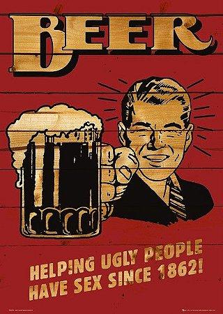 Placa MDF 28 x 20 - Beer Helping