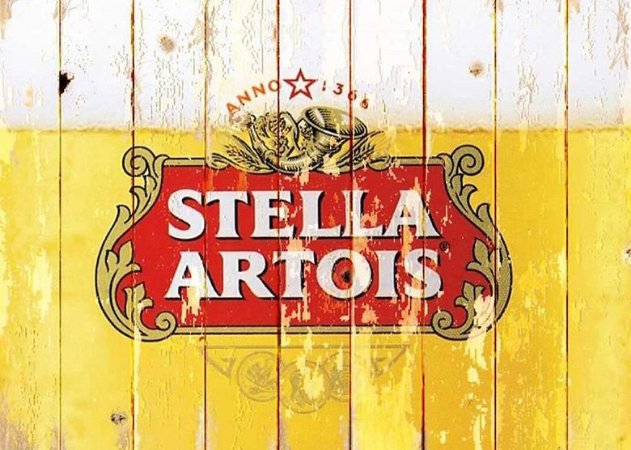 Placa MDF 28 x 20 - Stella Artois