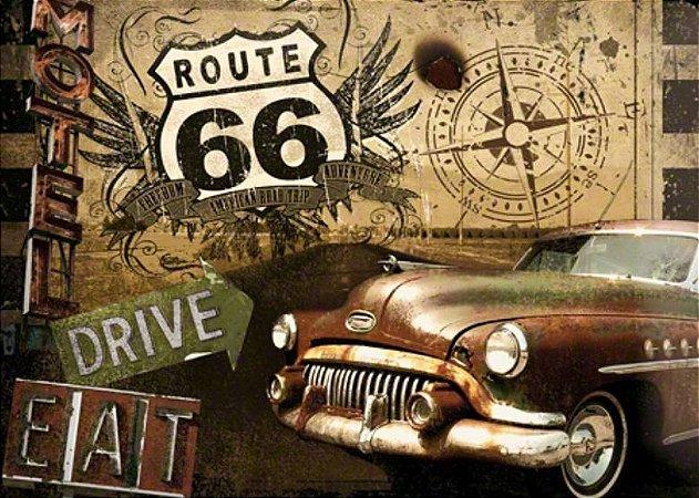 Placa MDF 28 x 20 - Route 66