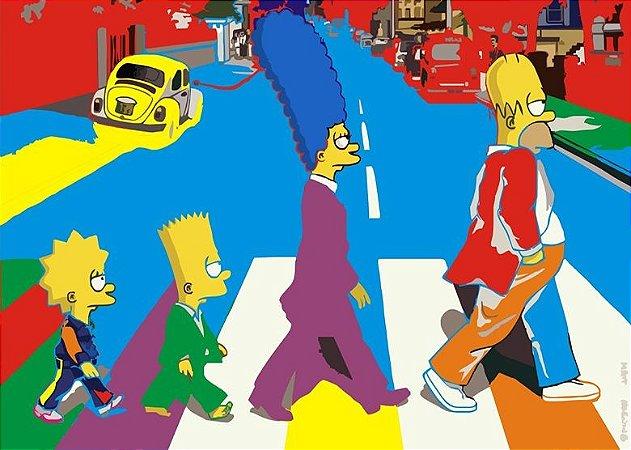 Placa MDF 28 x 20 - Simpsons