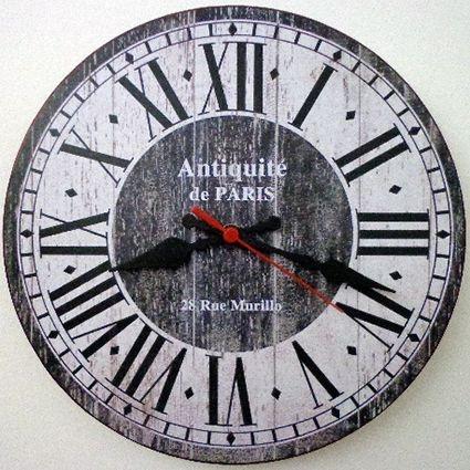 Relógio de Parede Antiquité de Paris com 59 cm