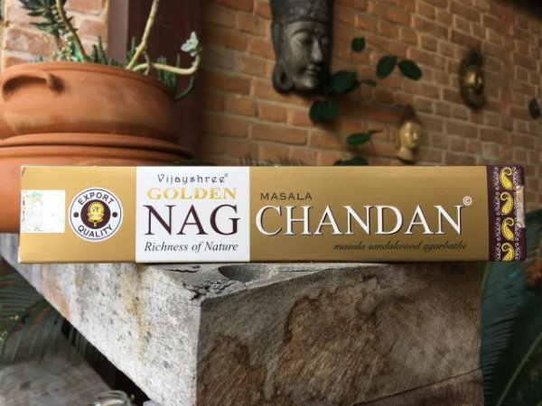 Incensos Massala Nag Chandan Golden - Sândalo