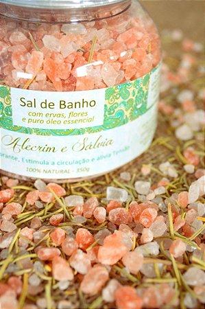 Sais de Banho - Sal Rosa do Himalaya Alecrim e Sálvia 350g