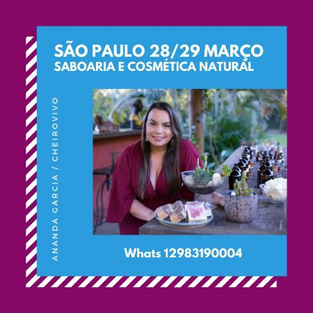 CURSO SABOARIA E COSMÉTICA NATURAL SÃO PAULO