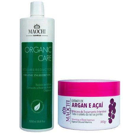 Escova Progressiva Orgânica 1LT e Máscara de Argan e Açaí 300gr