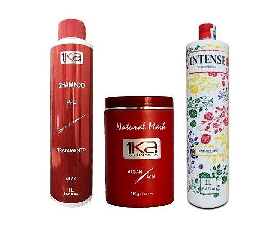 kit Selagem Térmica 1ka Intense - Com Shampoo + Ativo e Natural Maski de 1kg.