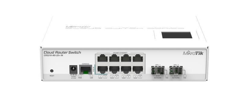 Mikrotik Cloud Core Router Switch - CRS210-8G-2S+IN 2 XSFP L5