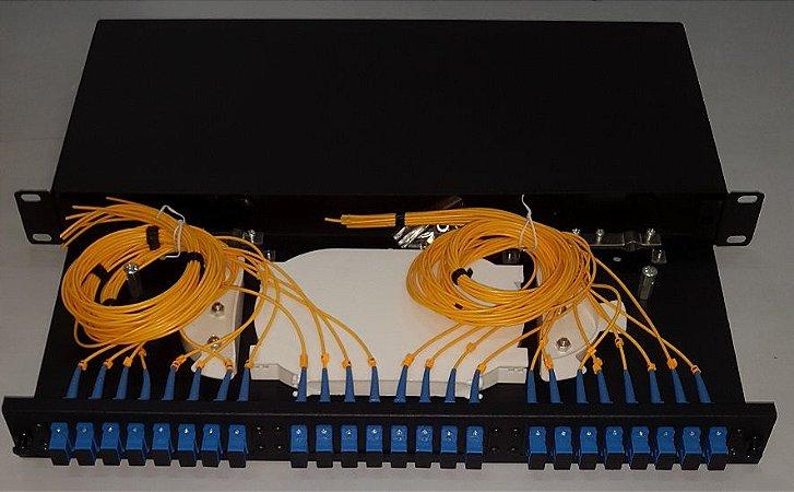 Distribuidor Interno Ótico 24 Portas UPC RACK