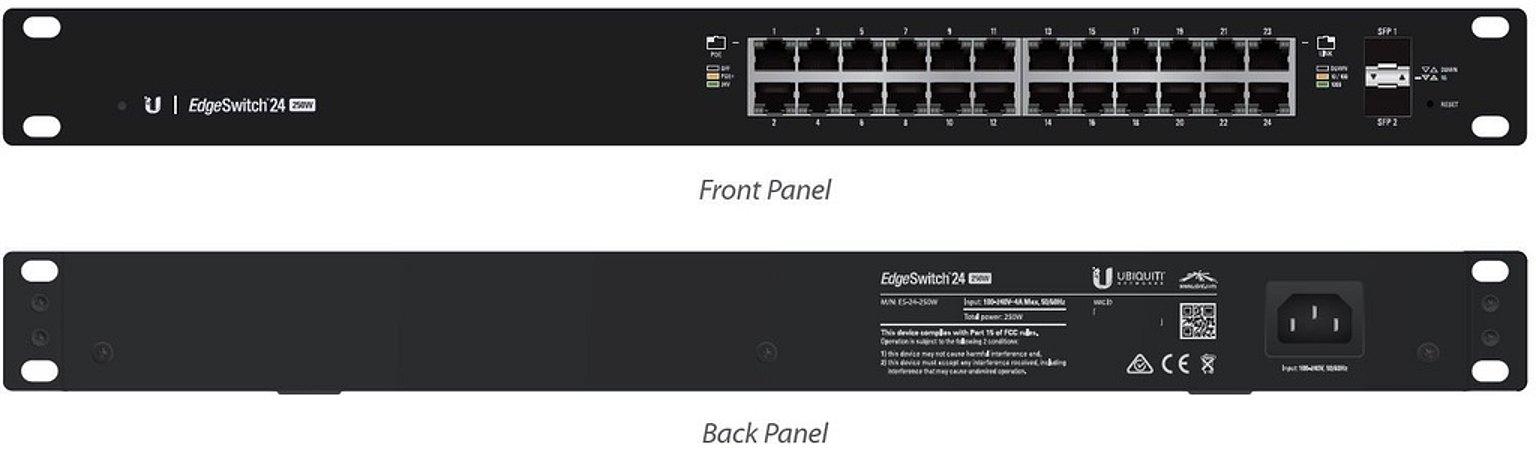 Edge Switch ES-24-250W - 24 portas