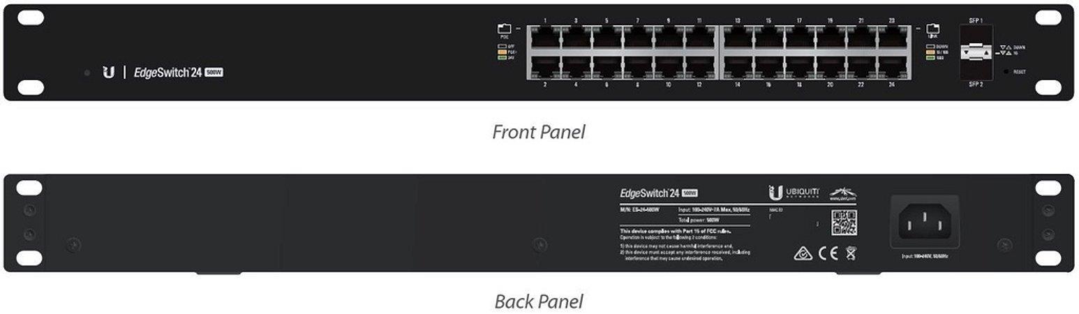Edge Switch ES-24-500W - 24 portas