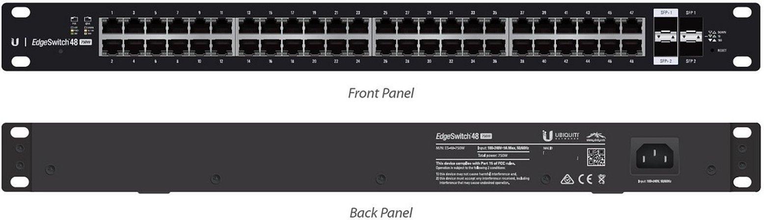 Edge Switch ES-48-750W - 48 portas
