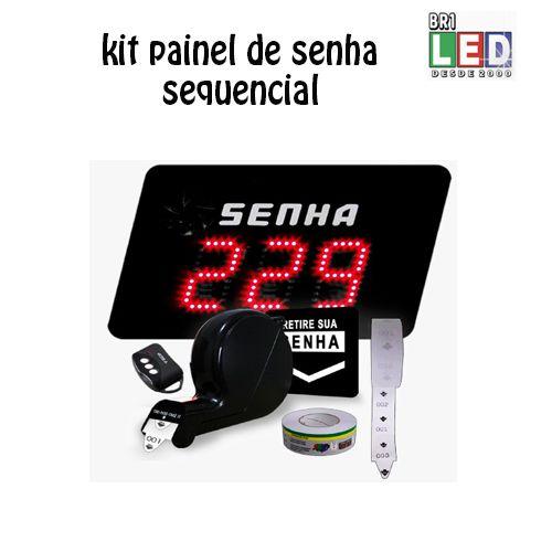 Kit Atendimento Fila unica Com Painel Senhas + dispensador de senha E Bobina