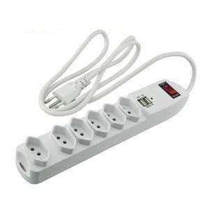Filtro de linha 6 tomadas + 2 USB