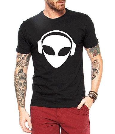 Camiseta Masculina Dj Et Alien Rave- Personalizadas/ Customizadas/ Estampadas/ Camiseteria/ Estamparia/ Estampar/ Personalizar/ Customizar/ Criar/ Camisa Blusas Baratas Modelos Legais Loja Online