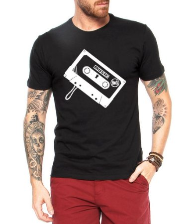 Camiseta Masculina Toca Fita Nerd Geek - Personalizadas/ Customizadas/ Estampadas/ Camiseteria/ Estamparia/ Estampar/ Personalizar/ Customizar/ Criar/ Camisa Blusas Baratas Modelos Legais Loja Online