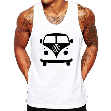 Camiseta Regata Masculina Kombi Carro Antigo Clássico - Personalizadas/ Customizadas/ Estampadas/ Camiseteria/ Estamparia/ Estampar/ Personalizar/ Customizar/ Criar/ Camisa Blusas Baratas Modelos Legais Loja Online