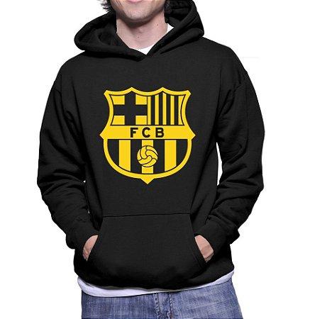 Moletom Masculino Barcelona Futebol Clube - Moletons Personalizados Blusa / Casacos Baratos / Blusão / Jaqueta Canguru