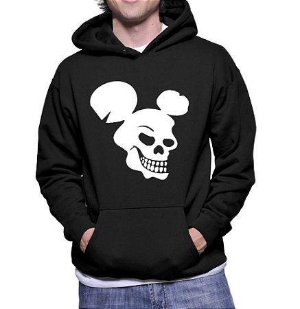 Moletom Mickey Mouse Esqueleto Disney Caveira Macabra - Moletons Personalizados Blusa/ Casacos Baratos/ Blusão/ Jaqueta Canguru