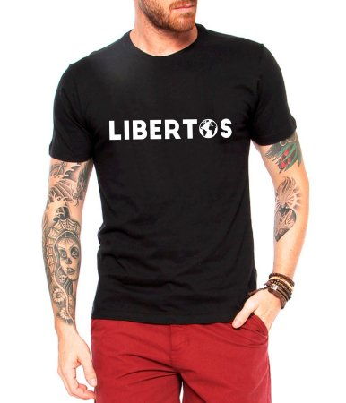 Camiseta Masculina Libertos Negócio de 4 Rendas