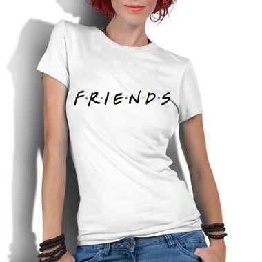 Camiseta Feminina Friends Séries e Seriados - Personalizadas/ Customizadas/ Estampadas/ Camiseteria/ Estamparia/ Estampar/ Personalizar/ Customizar/ Criar/ Camisa Blusas Baratas Modelos Legais Loja Online