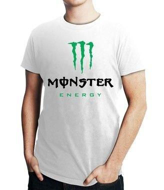 Camiseta Masculina Monster Energy - Personalizadas/ Customizadas/ Estampadas/ Camiseteria/ Estamparia/ Estampar/ Personalizar/ Customizar/ Criar/ Camisa Blusas Baratas Modelos Legais Loja Online