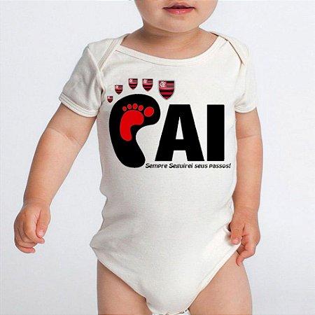 Body Bebê Time De Futebol Flamengo Time Do Papai  - Roupinhas Macacão Infantil Bodies Roupa Manga Curta Menino Menina Personalizados