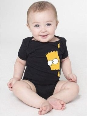 Body Bebê Bart Simpsons Seriados Espiando - Roupinhas Macacão Infantil Bodies Roupa Manga Curta Menino Menina Personalizados