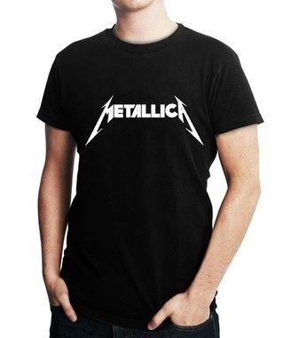 Camiseta Masculina Metallica Banda Rock Metal - Personalizadas/ Customizadas/ Estampadas/ Camiseteria/ Estamparia/ Estampar/ Personalizar/ Customizar/ Criar/ Camisa Blusas Baratas Modelos Legais Loja Online