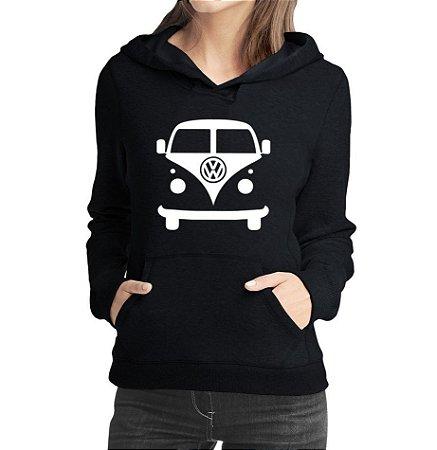 Moletom Feminino Kombi Carro Antigo Clássico - Moletons Personalizados Blusa/ Casacos Baratos/ Blusão/ Jaqueta Canguru