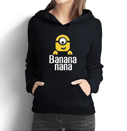 Moletom Feminino Minion Banana Malvado Favorito - Moletons Personalizados Blusa/ Casacos Baratos/ Blusão/ Jaqueta Canguru