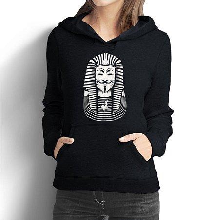 Moletom Feminino Anonymus Faraó Nerd Geek Hacker Filmes V De Vingança  - Moletons Personalizados Blusa/ Casacos Baratos/ Blusão/ Jaqueta Canguru