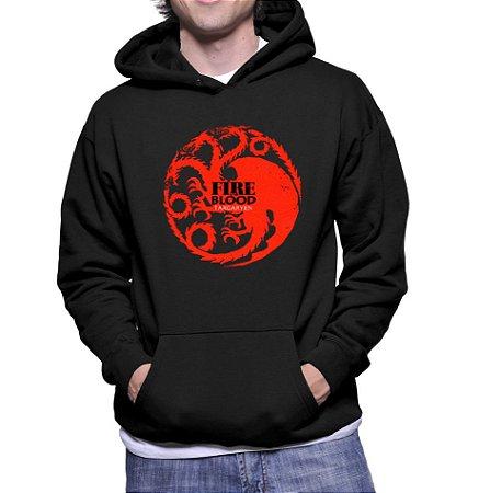 Moletom Masculino Game Of Thrones Targaryen Nerd Seriados- Moletons Personalizados Blusa/ Casacos Baratos/ Blusão/ Jaqueta Canguru