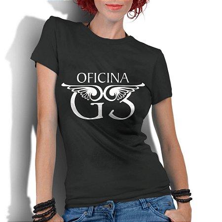 Camiseta Feminina Banda Rock Gospel Oficina G3 Cristã - Personalizadas/ Customizadas/ Estampadas/ Camiseteria/ Estamparia/ Estampar/ Personalizar/ Customizar/ Criar/ Camisa Blusas Baratas Modelos Legais Loja Online/ Bebê