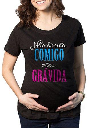 Camiseta Feminina De Gestantes Grávidas Engraçadas Estou Grávida - Personalizadas/ Customizadas/ Estampadas/ Camiseteria/ Estamparia/ Estampar/ Personalizar/ Customizar/ Criar/ Camisa Blusas Baratas Modelos Legais Loja Online