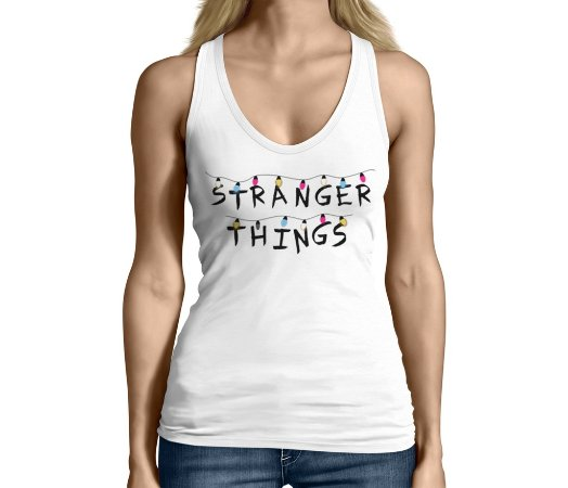Camiseta Regata Feminina Stranger Things Seriado Séries  - Personalizadas/ Customizadas/ Camiseteria/ Camisa T-shirts Baratas Modelos Legais Loja Online