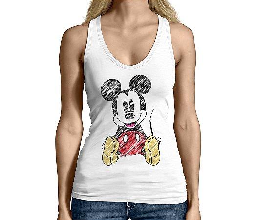 Camiseta Regata Feminina Mickey Mouse Desenhos - Personalizadas/ Customizadas/ Camiseteria/ Camisa T-shirts Baratas Modelos Legais Loja Online