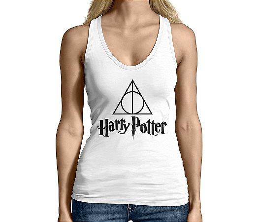 Camiseta Regata Feminina Harry Potter Relíquias da Morte  - Personalizadas/ Customizadas/ Camiseteria/ Camisa T-shirts Baratas Modelos Legais Loja Online